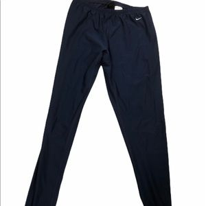 Nike Pants Jumpsuits Dark Blue Exercise Leggings Stretchy Euc Poshmark